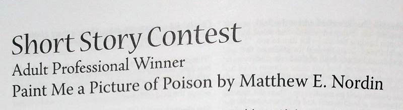 Paint Me a Picture of Poison Short Story Winner